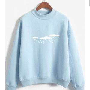 Rainy cloud print Sweatshirt sz L